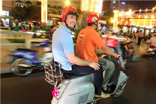 Vespa Tour - Saigon After Dark